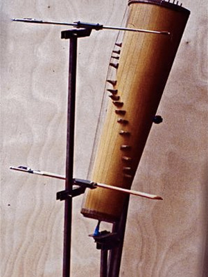 Conical violin support