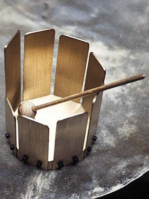 Slatted metallophone for children